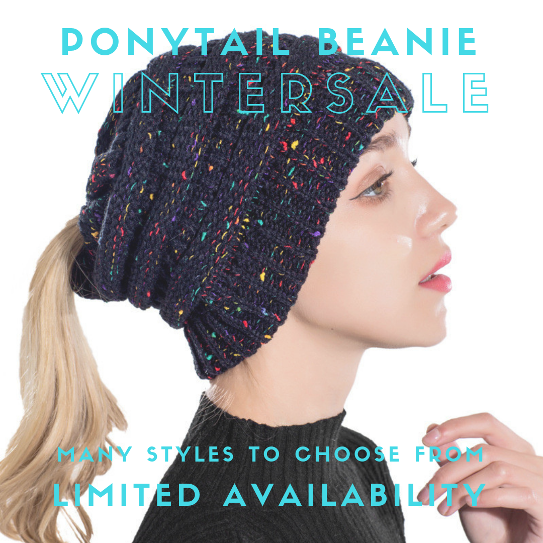 Stylish Ponytail Winter Hat