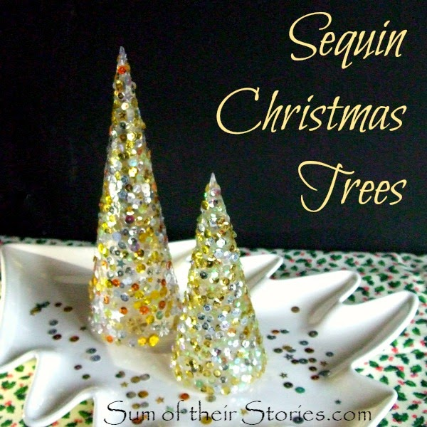 make mini Christmas trees that sparkle