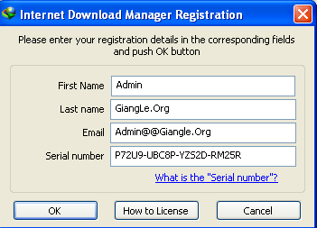 Internet manager without serial number
