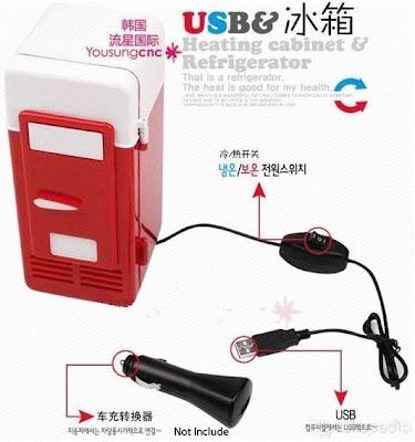 kulkas mini portable usb