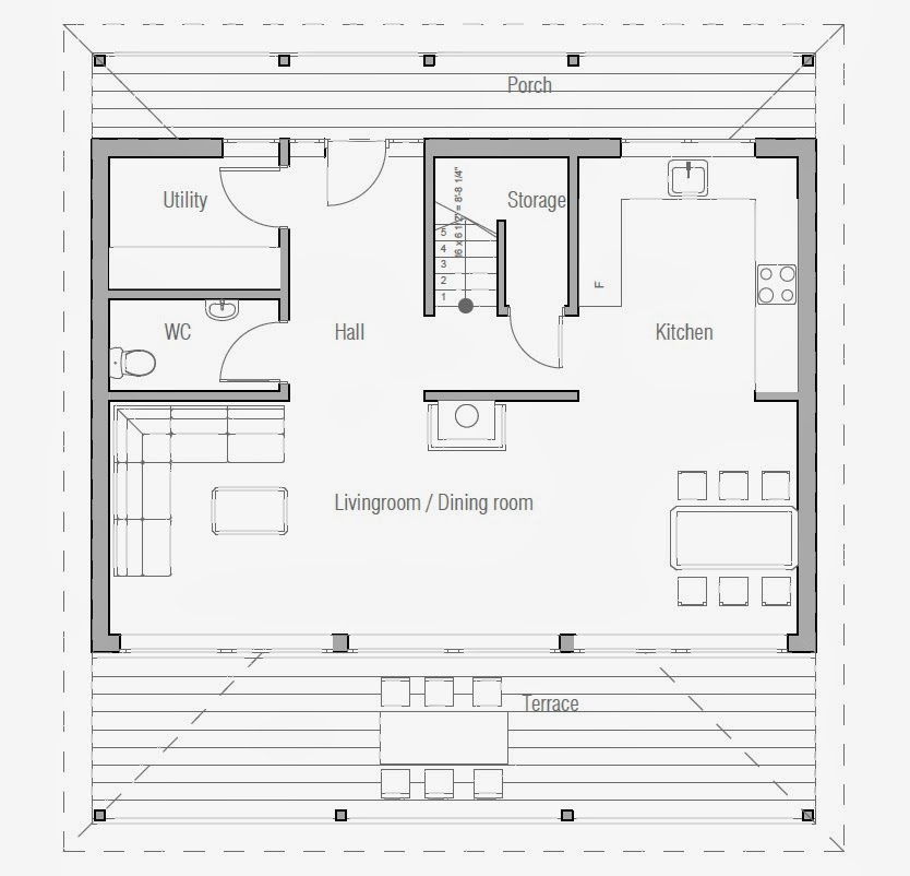 Australian house plans small australian house plan ch187 Small house designs and floor plans