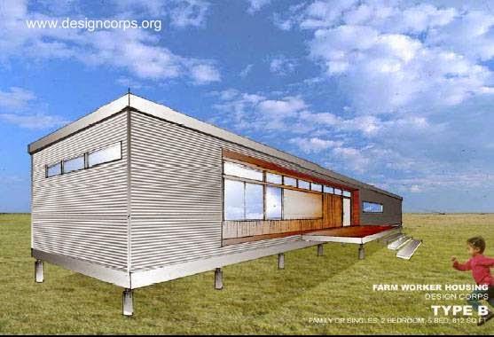 Dibujo de vivienda por un proyecto para migrantes en Estados Unidos