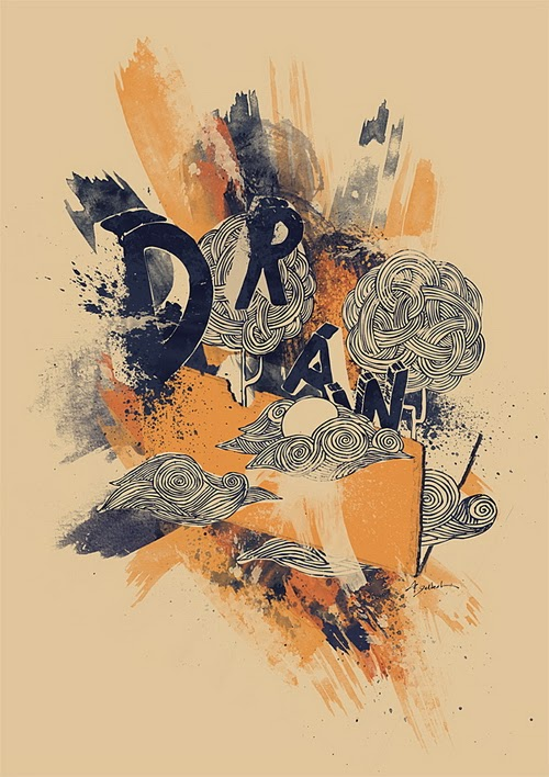 An Inspiring Artistic Poster with Drawn Elements