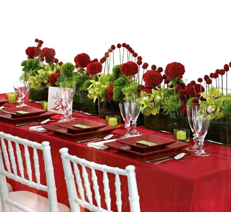 Decoração - Casamento Vermelho e Branco