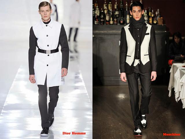 Tendencia otoño_invierno 2013-14 blanco y negro: Dior Homme y Moschino