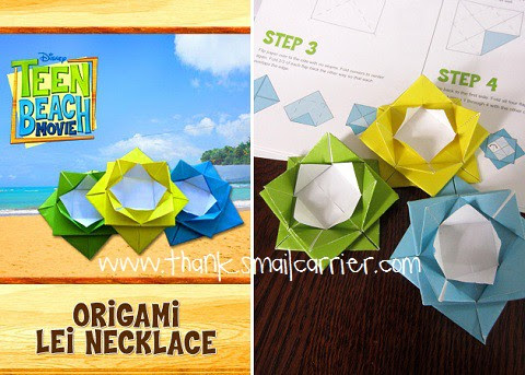 origami lei necklace