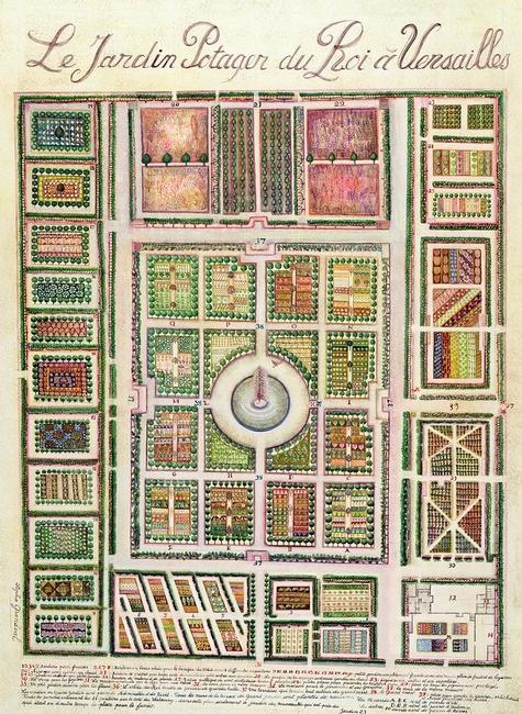 Renaissance daze the potager or ornamental kitchen garden for Kitchen garden layout