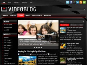 VideoBlog - Free Wordpress Theme