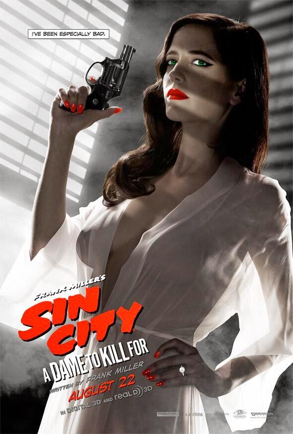 Eva Green poster censurado Sin City: A dame to kill for