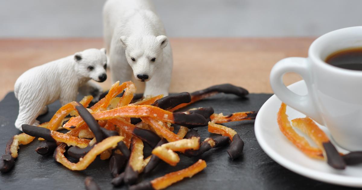 Tallerken: Candied orange peel (orangettes)