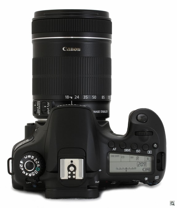 Foto Kamera Canon EOS 60D DSLR - Tampak Samping