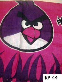 kain pantai bird pink