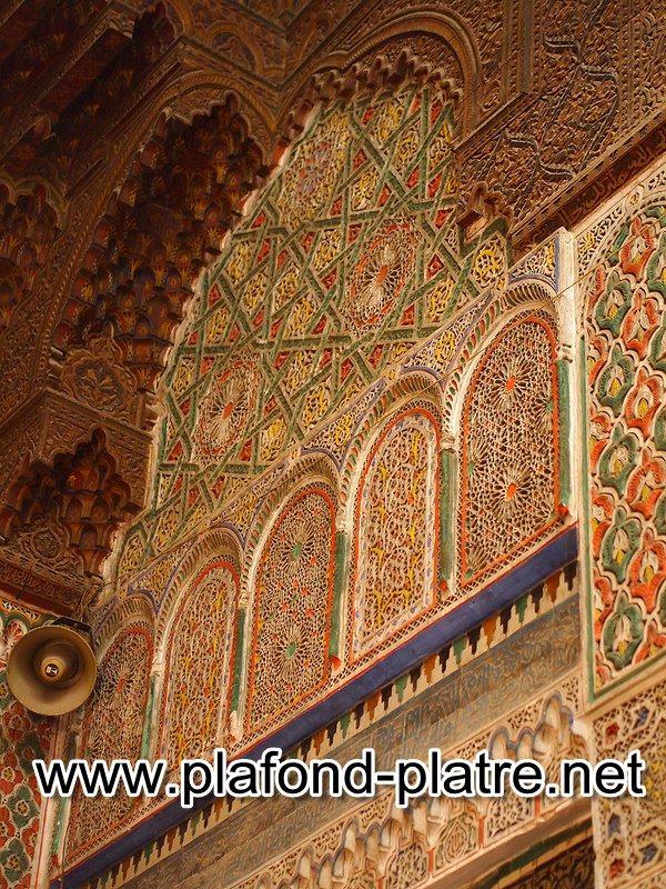 Décorations En Plâtre Marocaines : Inspiration marocain plafond