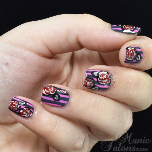 Stripes and Roses with Akzentz Gel Play Fall 2015