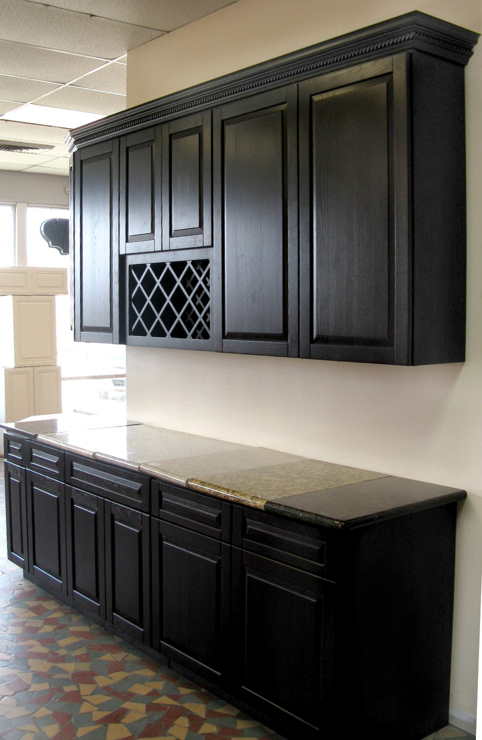 Cabinets for kitchen photos black kitchen cabinets for Small kitchen black cabinets