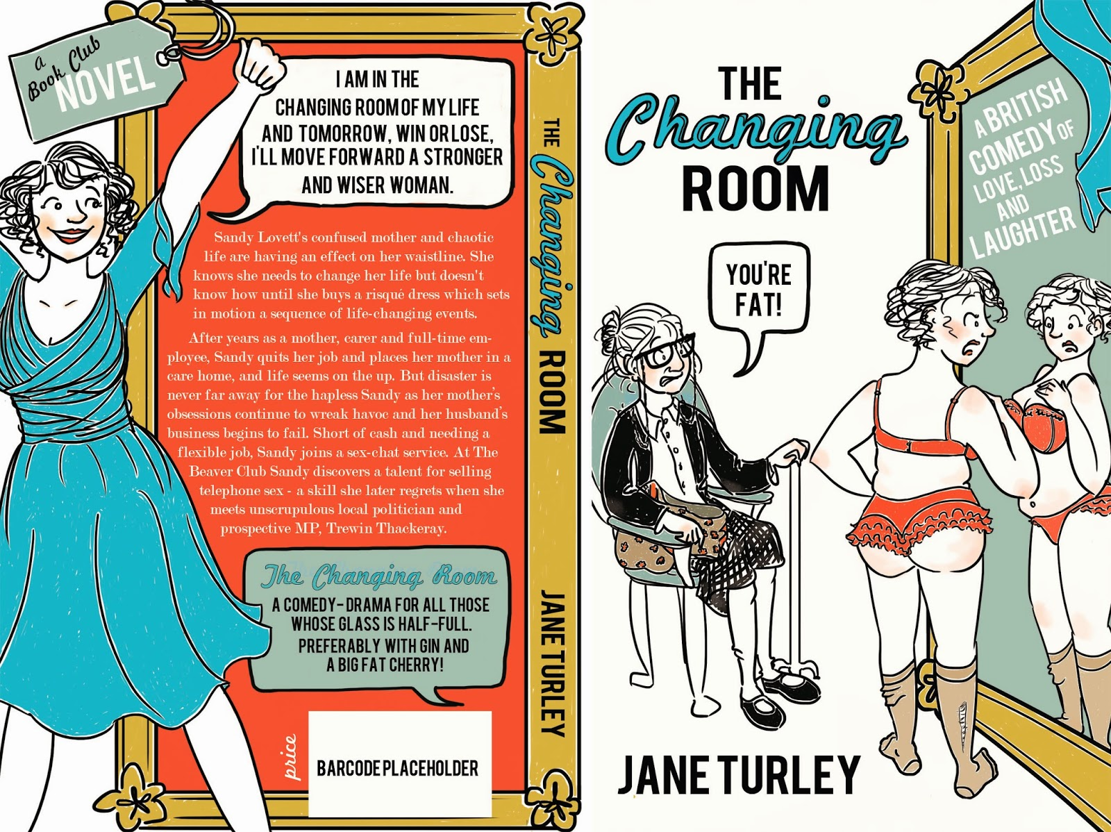 The Changing Room by Jane Turley hardback design