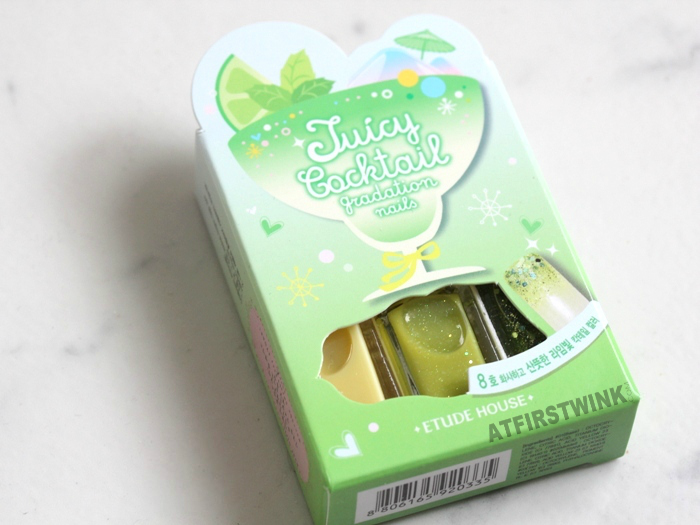 Etude House Juicy Cocktail gradation nails 8 - Lime Squash review
