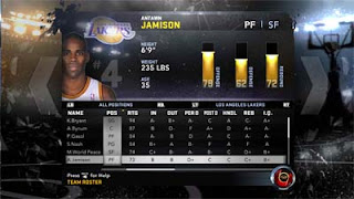 NBA 2K12 Antawn Jamison to Los Angeles Lakers