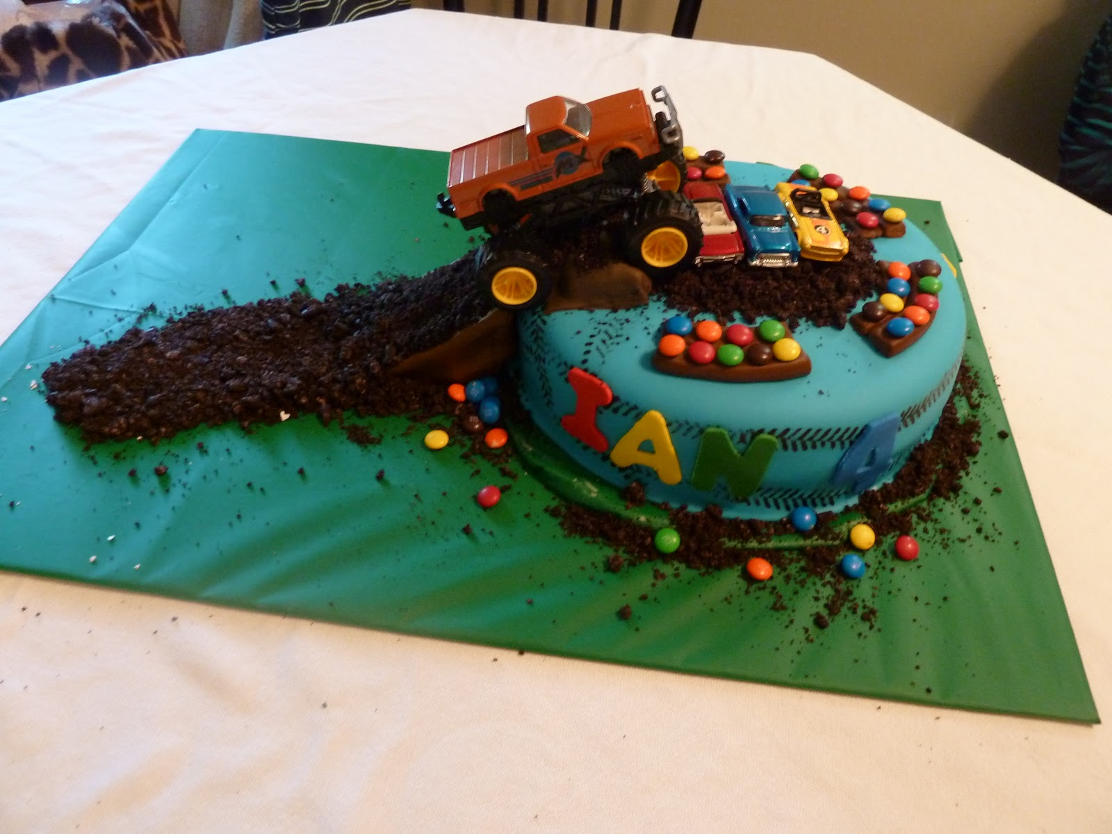 How To Make A Mud Truck Cake