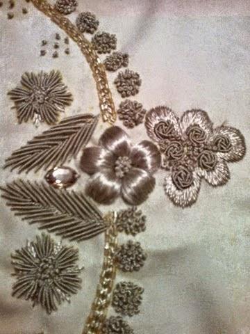 شكيلات متنوعة من الطرز التركي على الثوب وعلى الرندة