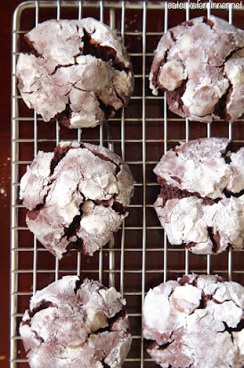Triple Chocolate Crinkle Cookies