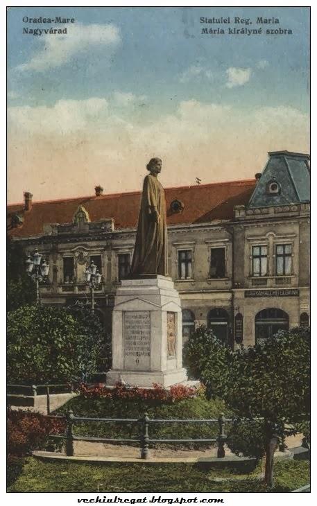Vechea statuie a Reginei Maria din Oradea