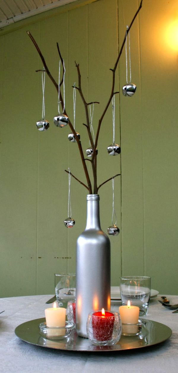 How to recycle recycled christmas decorating ideas for Recycled centerpiece ideas