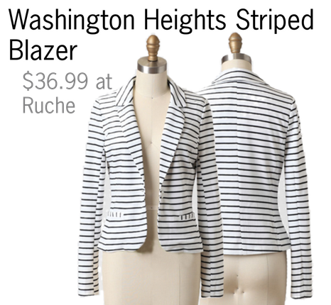 Blazer, Stripes, collage, Polyvore, cheap, affordable, fashion