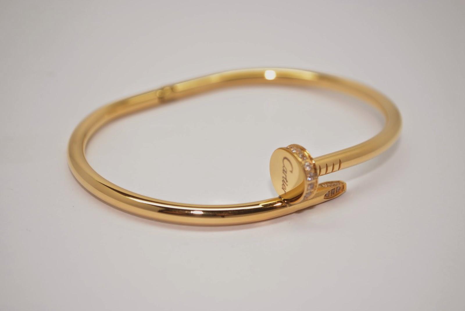 cartier jewelry just un clou diamond clous juste size yellow bracelet gold and
