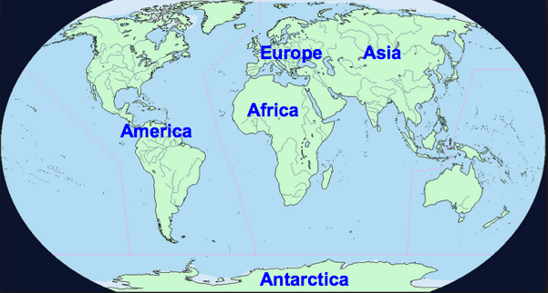 Prior To World War II It Was Generally Accepted By All Map Makers That  There Were Five Continents: Europe, Asia, Africa, America, And Antarctica.