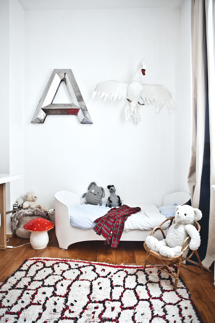children room with moroccan rug