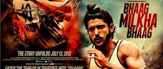 Bhaag Milkha Bhaag movie poster.