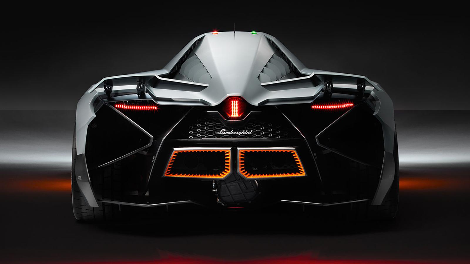 Mobil Sport Lamborghini Egoista Back View