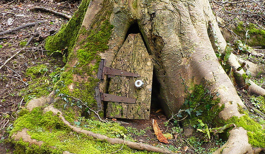 Two men and a little farm future project fairy door in a for Rustic fairy door