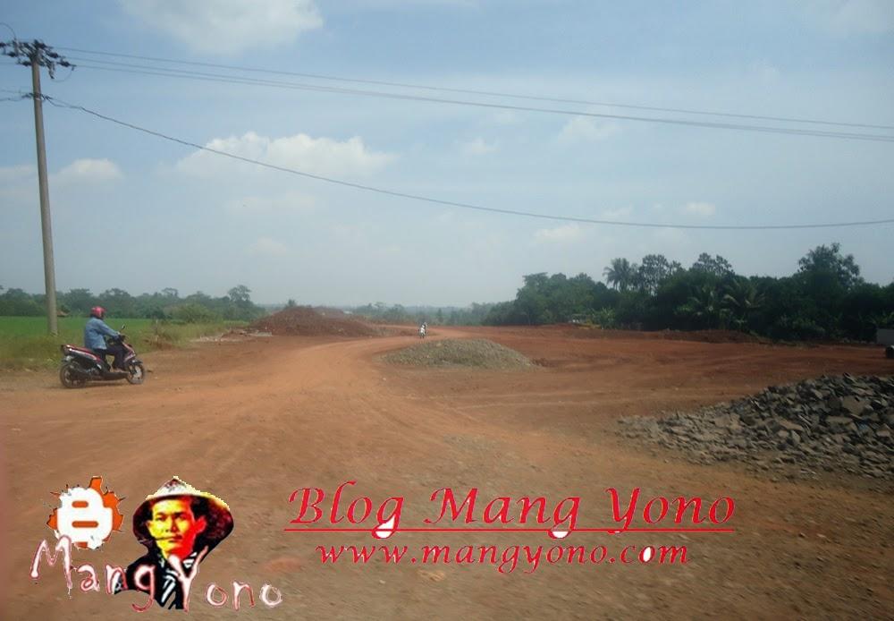 Tanah sudah dipadatkan saya jepret di Desa Balingbing
