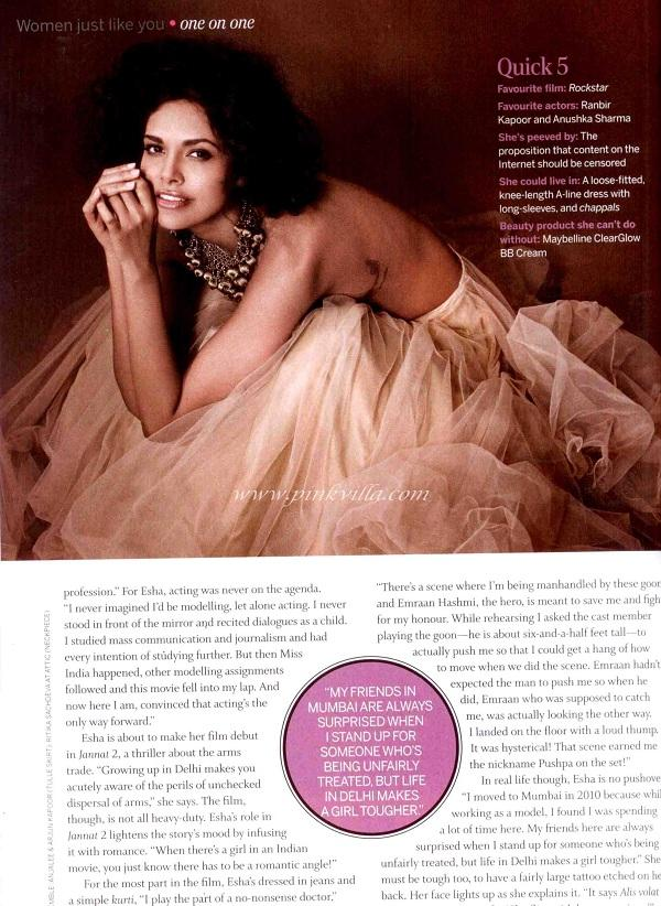 Esha Gupta for the cover of Femina India