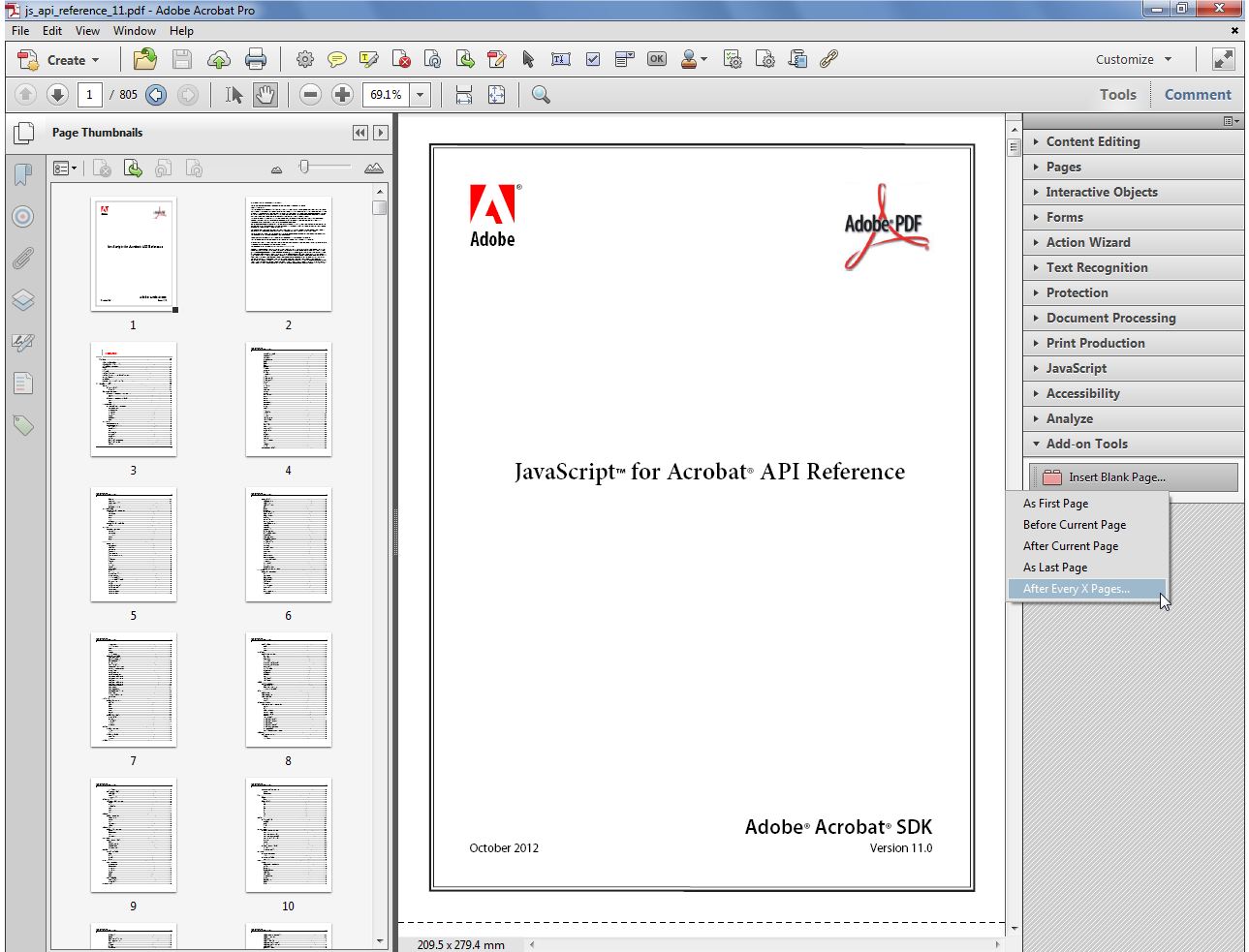 how to delete a page in adobe acrobat