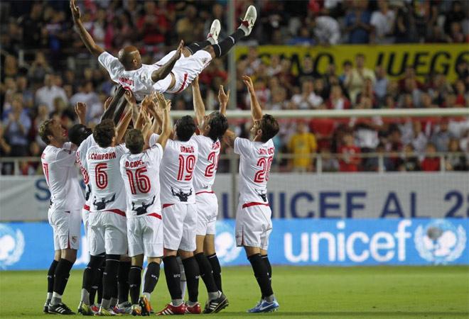 Kanouté se despidió a lo grande del Sevilla