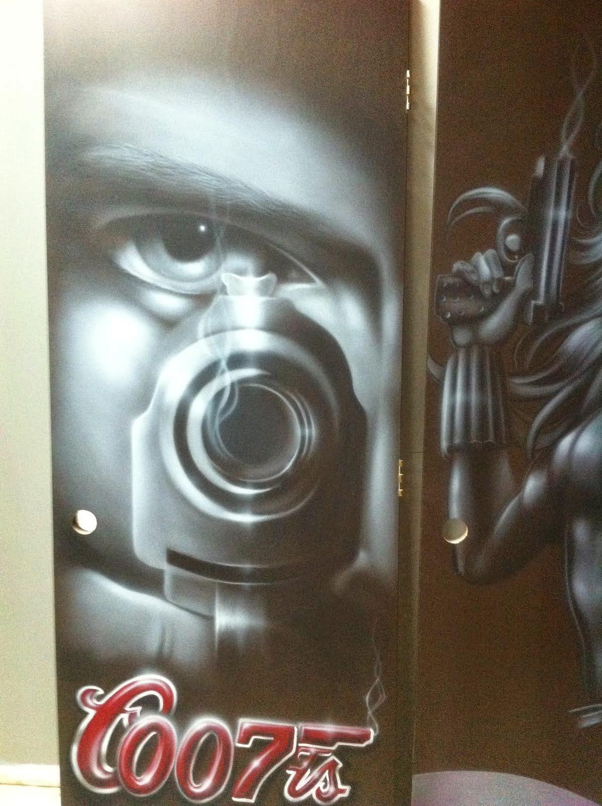 peinture sur porte