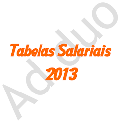 Tabelas Salariais 2013