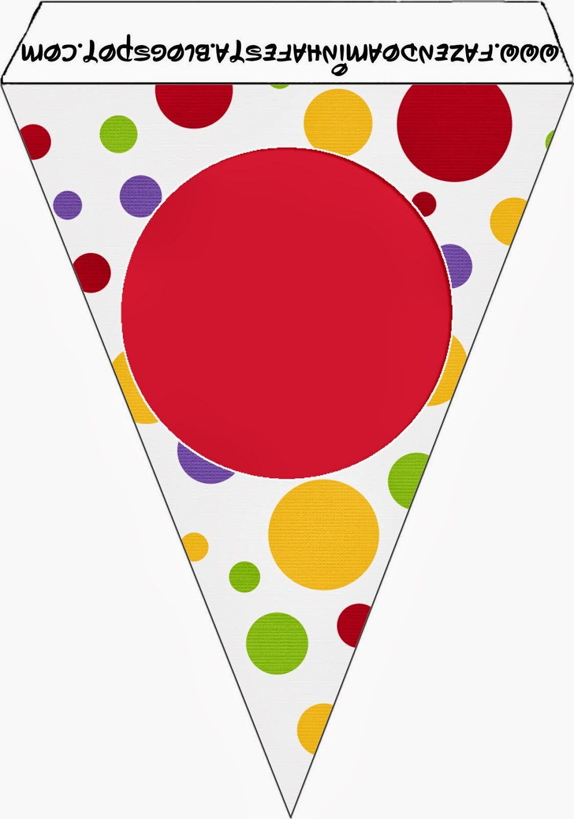 Colour Spots Free Printable Bunting.