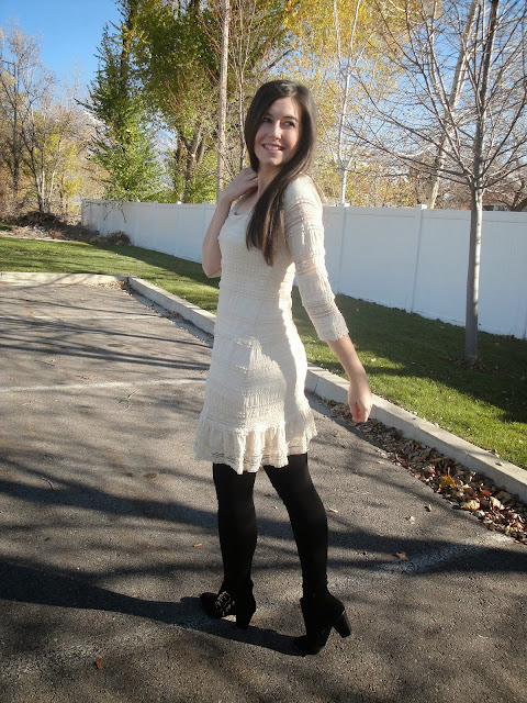 stein mart dress, stein mart, boutique dress, lace dress, lace outfit, lace, ankle boots, pretty hair, long hair, cute hair, deb shop, deb shops, ankle booties, boots, boot attire, dressy, dress attire