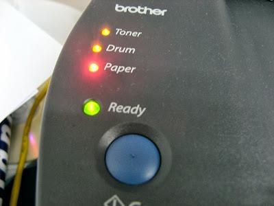Световые индикаторы принтера Brother HL2130