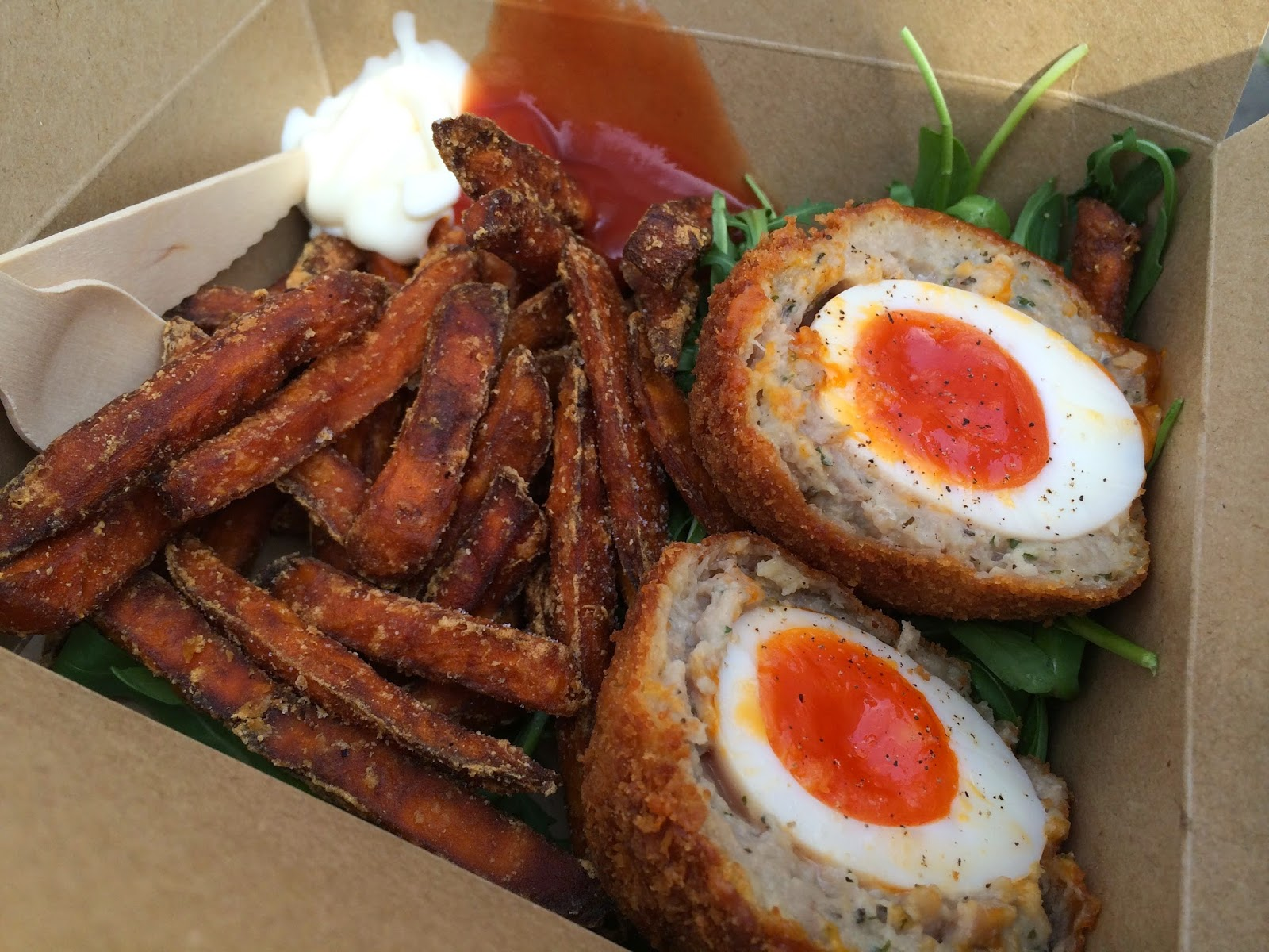 Scotch eggs by scotchtails borough market lucy loves to eat what does it take to make a good scotch egg a soft boiled egg with a runny centre juicy and flavourful sausage meat and a crispy breadcrumb coating forumfinder Choice Image
