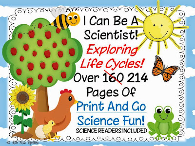 https://www.teacherspayteachers.com/Product/I-Can-Be-A-Scientist-Exploring-Life-Cycles-613373