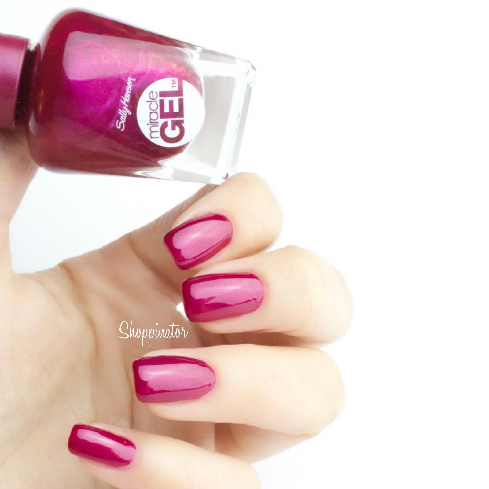 Shoppinator-Sally-Hansen-Gellack-Nagellack-Gelnagellack-Gel-Miracle-Mani-Miracle-Gel-Creme-de-la-Creme-Birthday-Suit-Pinky-Promise-Pretty-Piggy-Pink-Tank-Red-Eye-Mad-Women-Wine-Stock-Tidal-Wave-Blacky-O-Standardsortiment-blau-pink-nude-schwarz-lila-rose-rosa