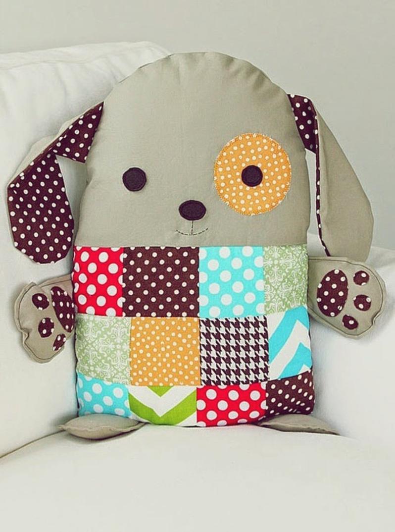 Декоративные подушки-игрушки своими руками