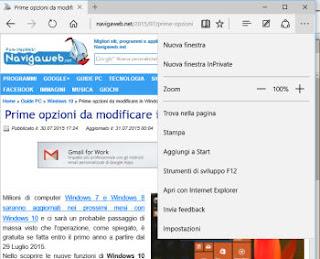 funzioni browser Edge