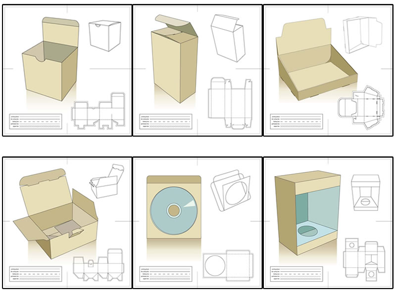 Corak Ilustrasi Kotak Kek Rino Gambar