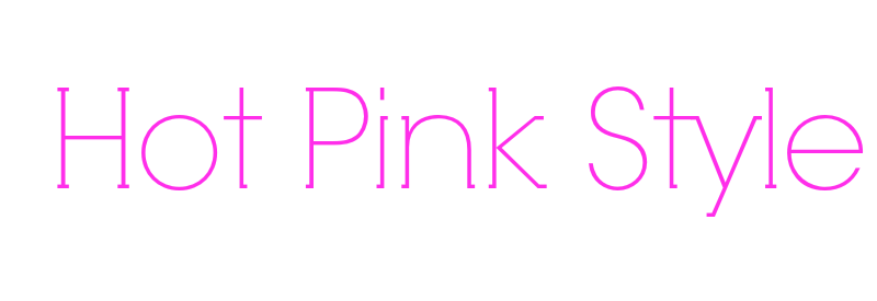 Hot Pink Style Logo